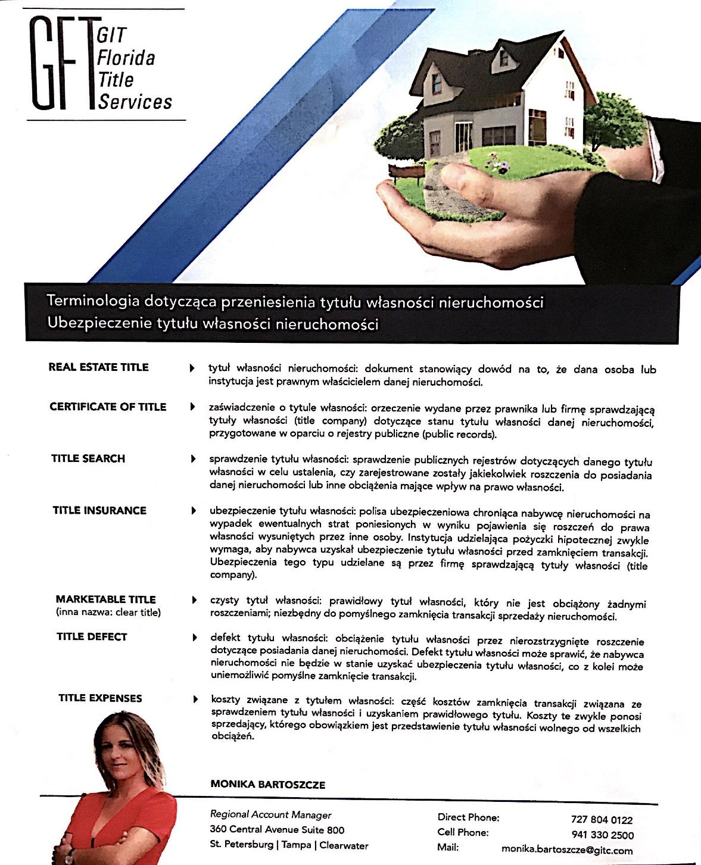 GIT Title Services - Monika Bartoszcze